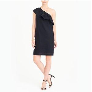 NEW J CREW one-shoulder black dress NWT JCREW!
